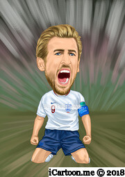 Harry Kane in world cup 2018