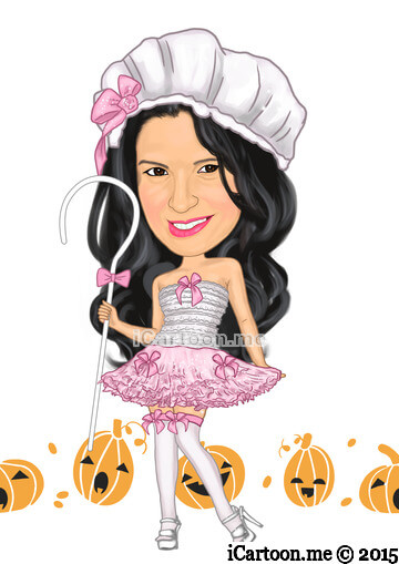 Make a cartoon of me image - inspired from little bo peep picture
