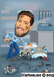 mechanic doctor caricature