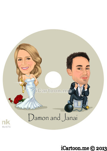 Wedding caricature - CD cover