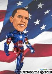 American President Election 2012 Barack Obama Iron Man