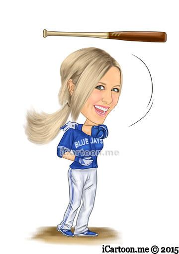 Make a cartoon of me from photos - doing the bautista bat flip