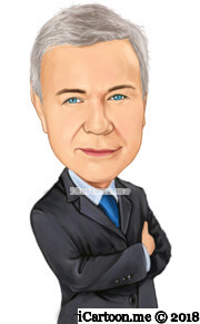 professional look business caricature