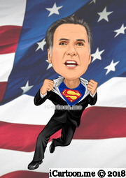 American President Election 2012 Mitt Romney superman