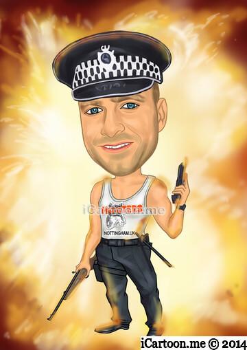 Birthday gift - policeman and Hooters theme