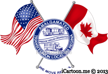 The Amalgamated Transit Union caricature logo