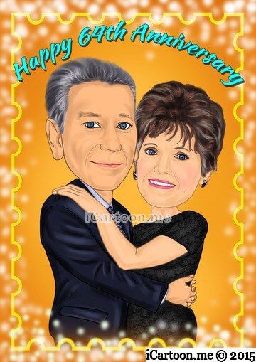 Happy 64th Anniversary caricature