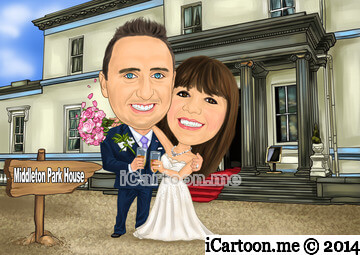 Wedding Invitation - the venue Middleton Park House