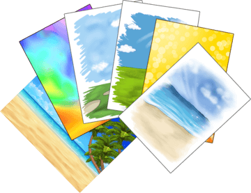 Free backgrounds for custom made drawing