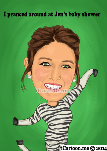 Drawing from photo - prancing like a zebra