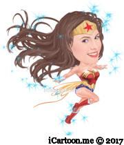 wonderful woman flying