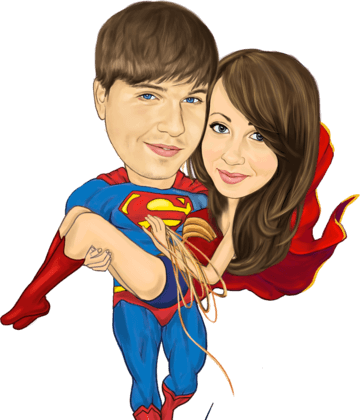 My superman carrying me