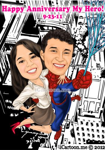 Happy Anniversary My Hero - Spiderman swinging