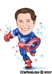 american captain running