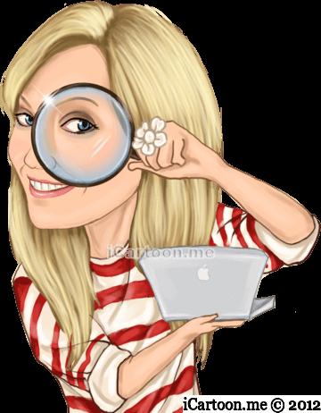 Brand detective caricature logo