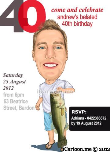 Birthday invitation - fishing theme