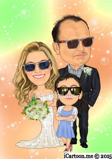 Wedding cartoon from photo