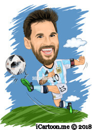 Lionel Messi in world cup 2018