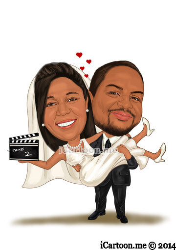 caricature for vow renewal - Take 2