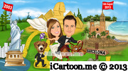 wedding caricature - our journey