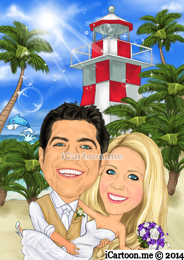 Wedding invitation from the Key Largo Lighthouse