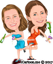 party and celebration caricature