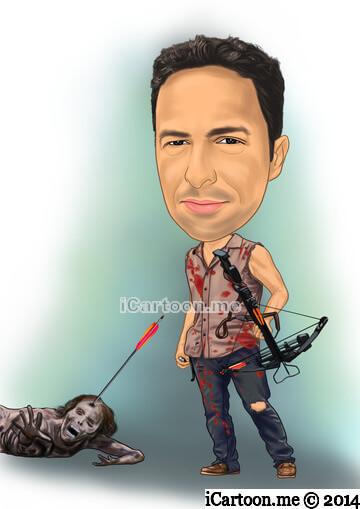 Cartoon me - walking dead character - darryl Dixon