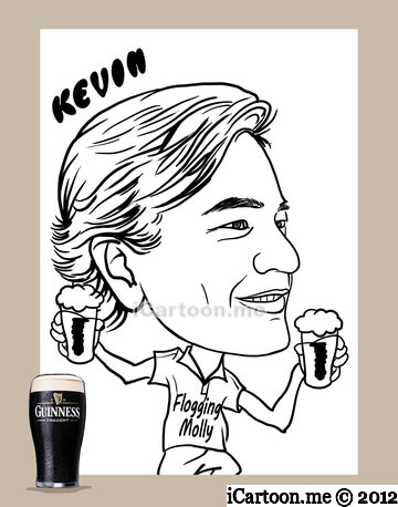 Caricature drawing - side profile