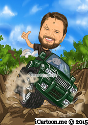 truck cartoon caricature