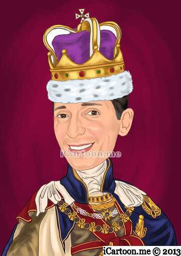 Make a cartoon of me from photo - regal look with crown like a King