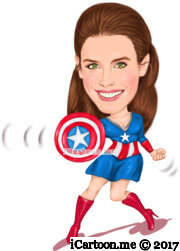 american captain woman