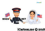 when harry met meghan wedding caricature