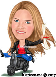 graduation caricature