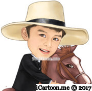 kid riding horse from waist up